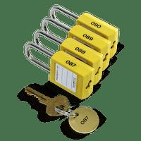 Engraved safety padlocks