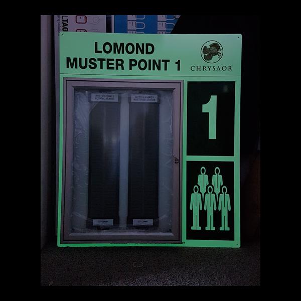 Photoluminescent Muster Point Board