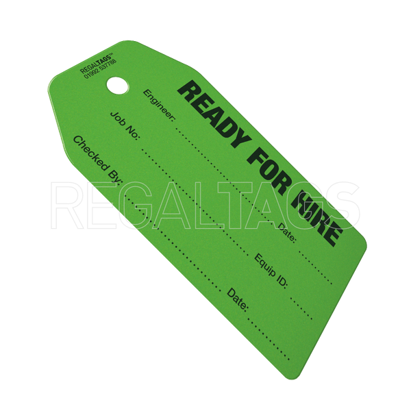 Smaller Hire Tag Green