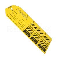 Yellow flange tag