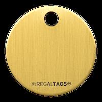 Round metal tag