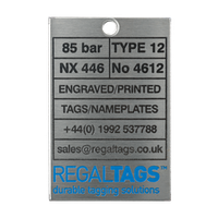 Rectangle metal tag